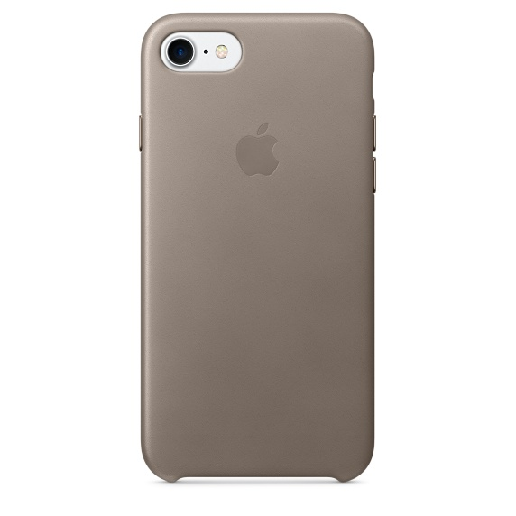 Apple Leather Case для iPhone 7/8 (Платиново-серый)