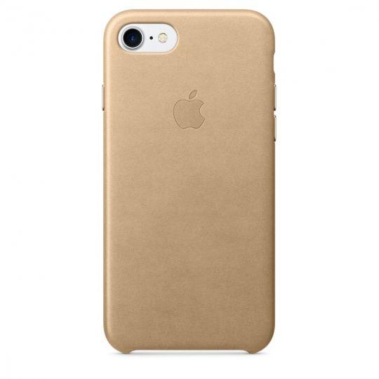 Apple Leather Case для iPhone 7/8 (Миндальный)