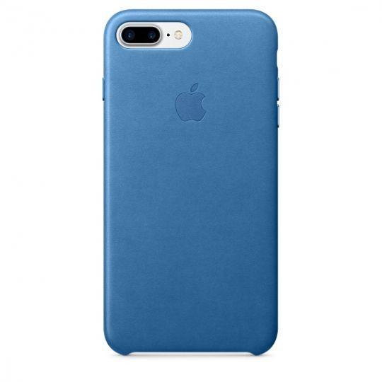 Apple Leather Case для iPhone 7+/8+ (Синее море)
