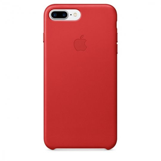Apple Leather Case для iPhone 7+/8+ (PRODUCT)RED