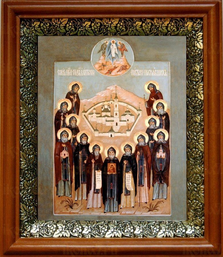 Собор Оптинских старцев (19х22), светлый киот