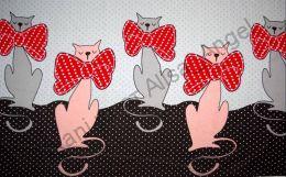 Кошки с бантами купон кулирка ринг