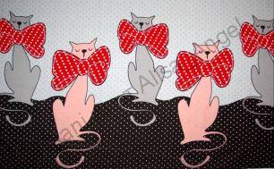 Кошки с бантами купон кулирка ринг (ширина 165см)