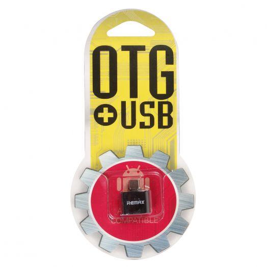 Переходник Remax (microUSB - гнездо USB )