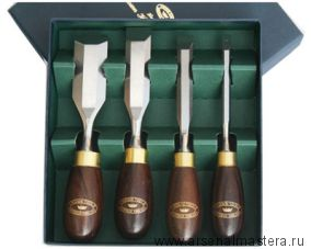 Набор стамесок 4 шт Crown Butt Chisel Set 152 / 89 мм CHT 174RB М00005573
