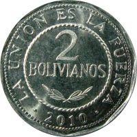 Боливия 2 боливано 2010 г.