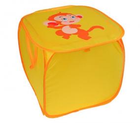 """Корзина для игрушек 45*45*45 см """"МАРТЫШКА"""" квадрат"""