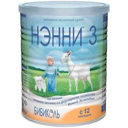 Молочный напиток Бибиколь Нэнни 3 на основе козьего молока (с 12 мес.) 400 гр - ДМ
