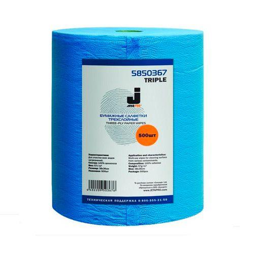 Jeta Трехслойные очищающие бумажные салфетки, 57 г/м2, (2 рулона)
