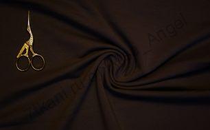 Черный  (с небольшим коричневым отливом) футер 2-х нитка ФулПенье отрез 0,6м