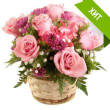 """Цветочная корзинка """"Альпийские цветы"""""""