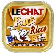 LECHAT Patè Консервы с лососем и креветками (лам. 100 г)