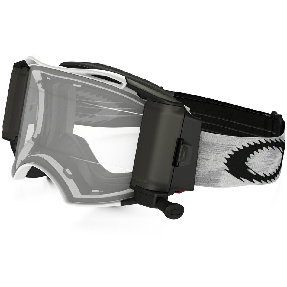 Oakley - Airbrake Solid (Roll-Off) очки белые матовые, линза прозрачная