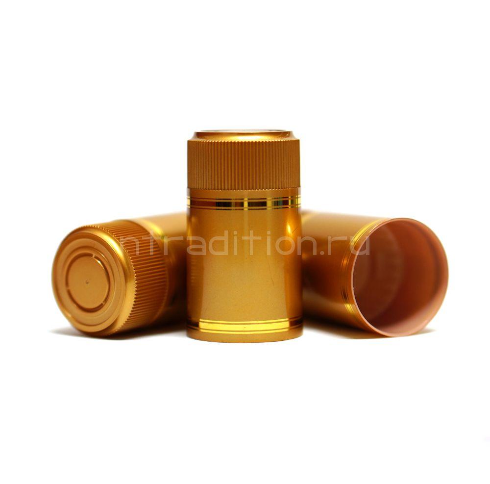 Колпачок с дозатором Гуала - золотой 59 мм (10 шт.)