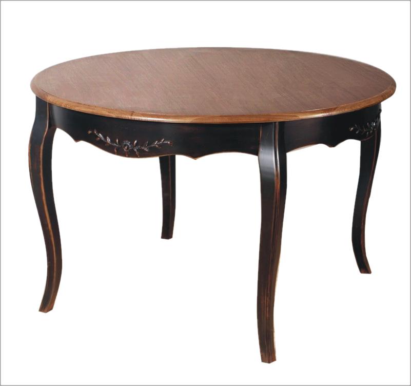 Обеденный стол Тёмный шоколад круглый