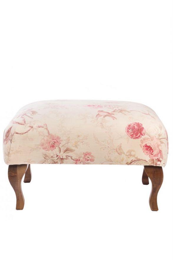 Пуф Shannon Белый Розовые Цветы