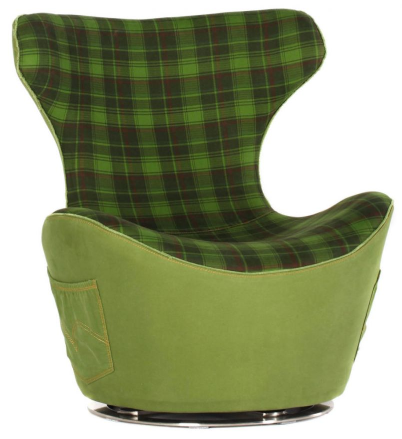 Кресло HE335/Green Grid Jeans (Без модели)