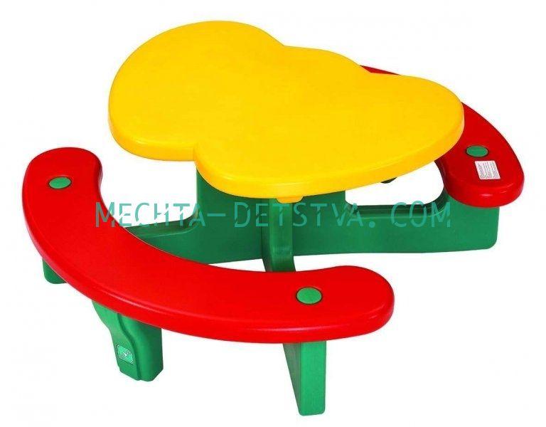 Столик с лавочками «Яблочко» LERADO LA-612