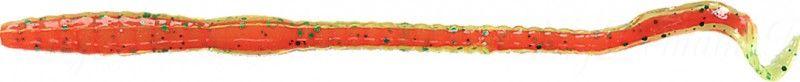 Червь MISTER TWISTER Phenom Worm 15 см уп. 20 шт. 109GN (прозрачно-салатовый с зелеными блестками / красная сердцевина)