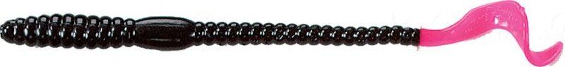 Червь MISTER TWISTER Phenom Worm 15 см уп. 10 шт. 36 (черный / огненный хвост) фирменная упаковка