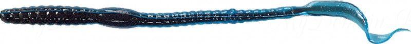 Червь MISTER TWISTER Phenom Worm 15 см уп. 10 шт. 53 (прозрачно-голубой / черная сердцевина) фирменная упаковка