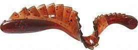 Твистер с гребешком MISTER TWISTER G-Grub 7 см уп. 20 шт. 20RS (моторное масло с красными блестками)