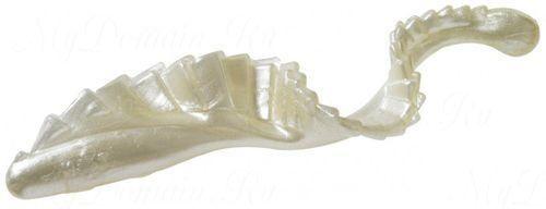 Твистер с гребешком MISTER TWISTER G-Grub 5 см уп. 10 шт. 1P (белый жемчуг) фирменная упаковка