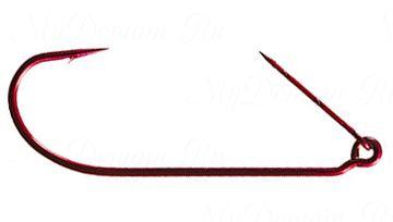 Офсетный крючок MISTER TWISTER незацепляйка Keeper worm hook Red № 4/0 уп. 10 шт. (красный)