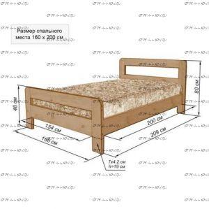 Кровать Дачная-3