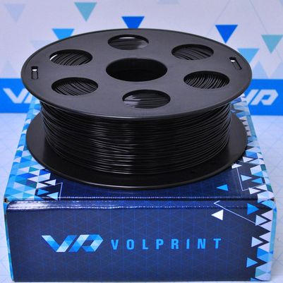 PLA пластик VolPrint 1,75мм черный, 1кг