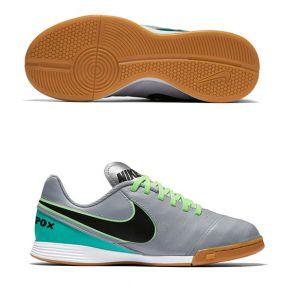 Детские футзалки Nike Tiempo Legend VI IC серые