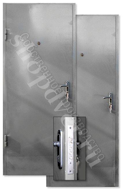 Металлические технические двери Металл с 2-х сторон в НЦ