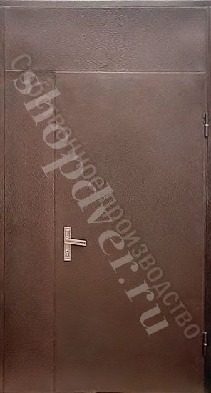 Тамбурные двери (порошковый окрас + винилискожа с вставкой)