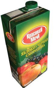Сок Красивая Меча яблоко- черная смородина (Без мякоти)