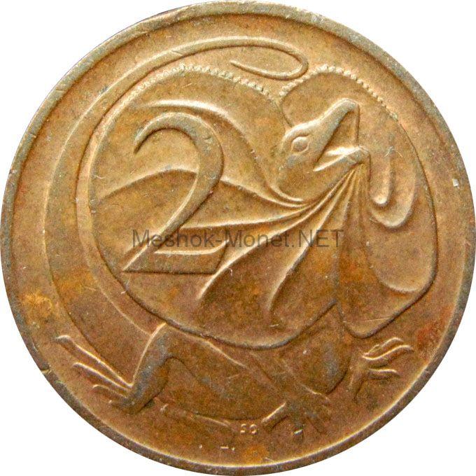 Австралия 2 цента 1974 г.