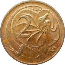 Австралия 2 цента 1976 г.