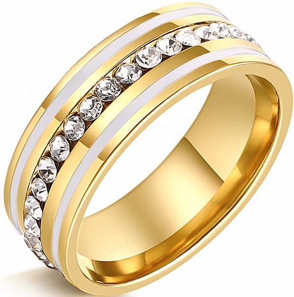 Кольцо с природными цирконами светлое