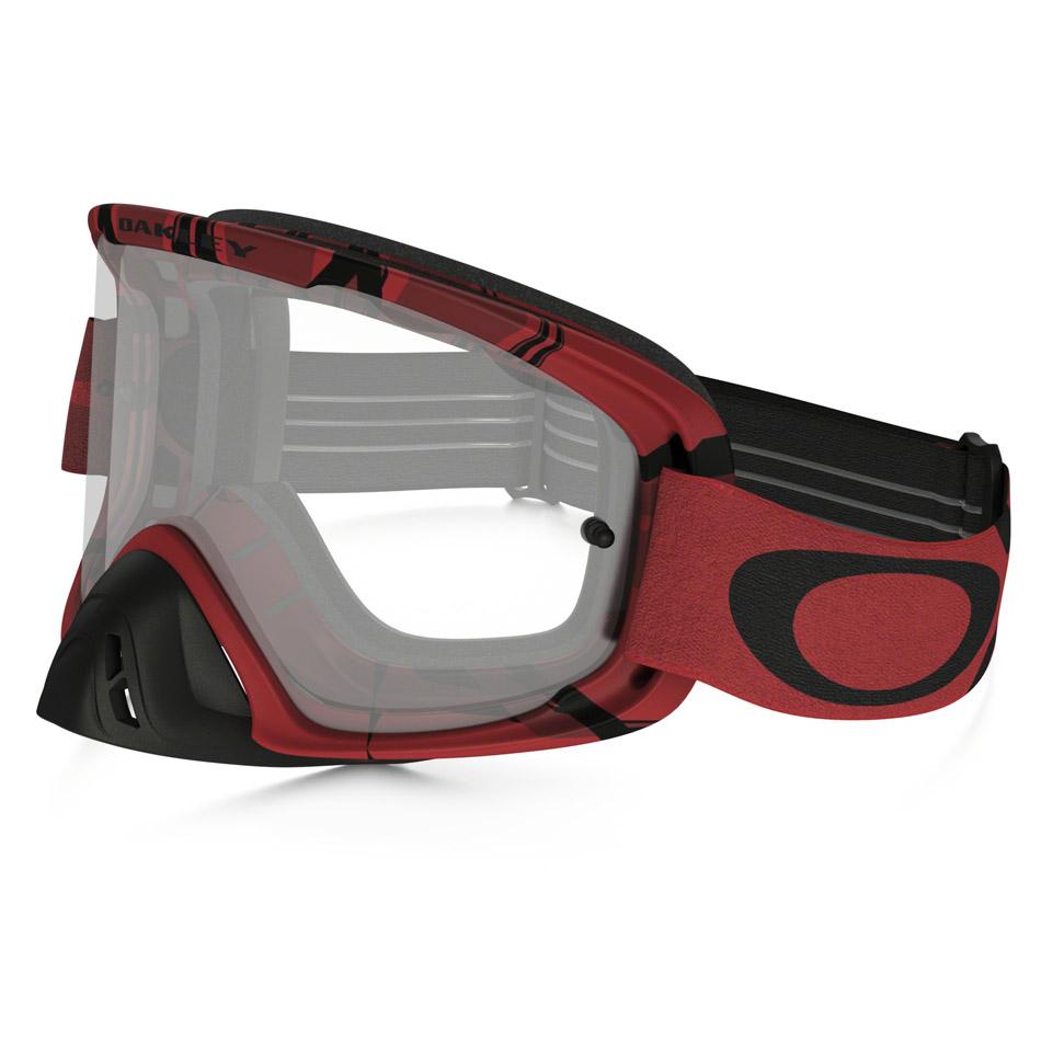 Oakley - O-Frame 2.0 Intimidator очки красно-черные, линза прозрачная