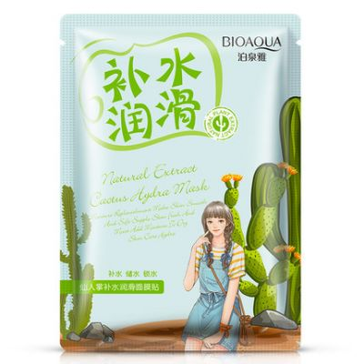 Увлажняющая маска с экстрактом кактуса Natural Extract BIOAQUA