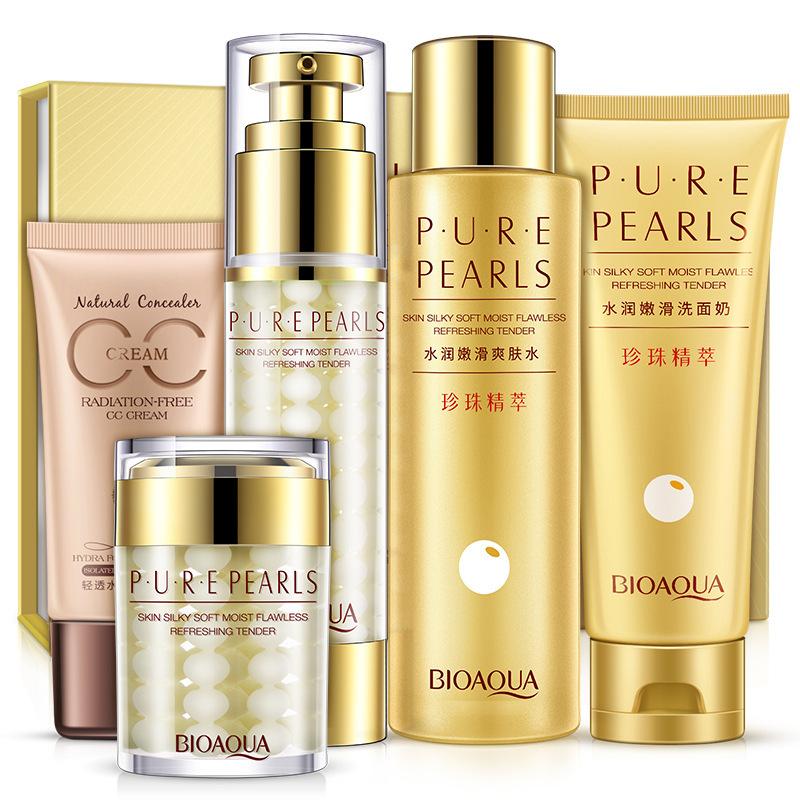 АКЦИЯ! Косметический набор комплекс для лица Pure Pearls Bioaqua