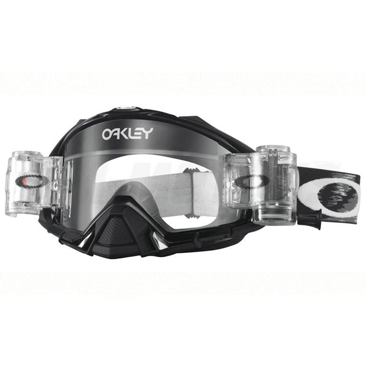 Oakley - Mayhem Pro Solid (Roll-Off) очки черные глянцевые, линза прозрачная
