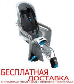 Детское велосипедное сидение RideAlong, св.серый (вкладыш т.сер/фиол.)