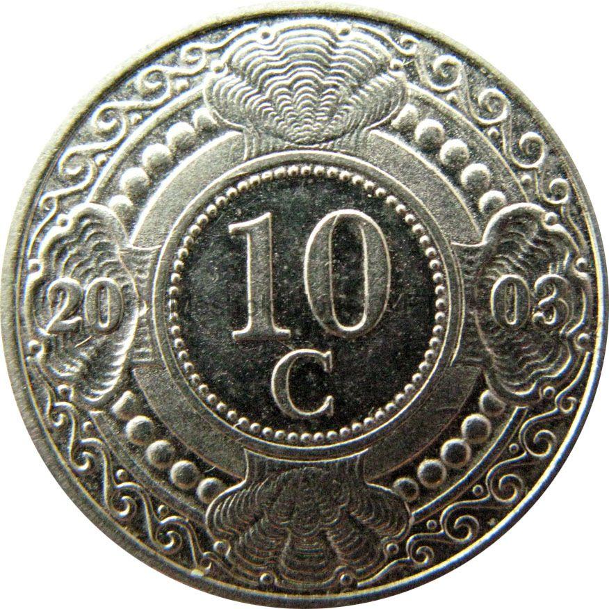Антильские острова 10 центов 1993 г.