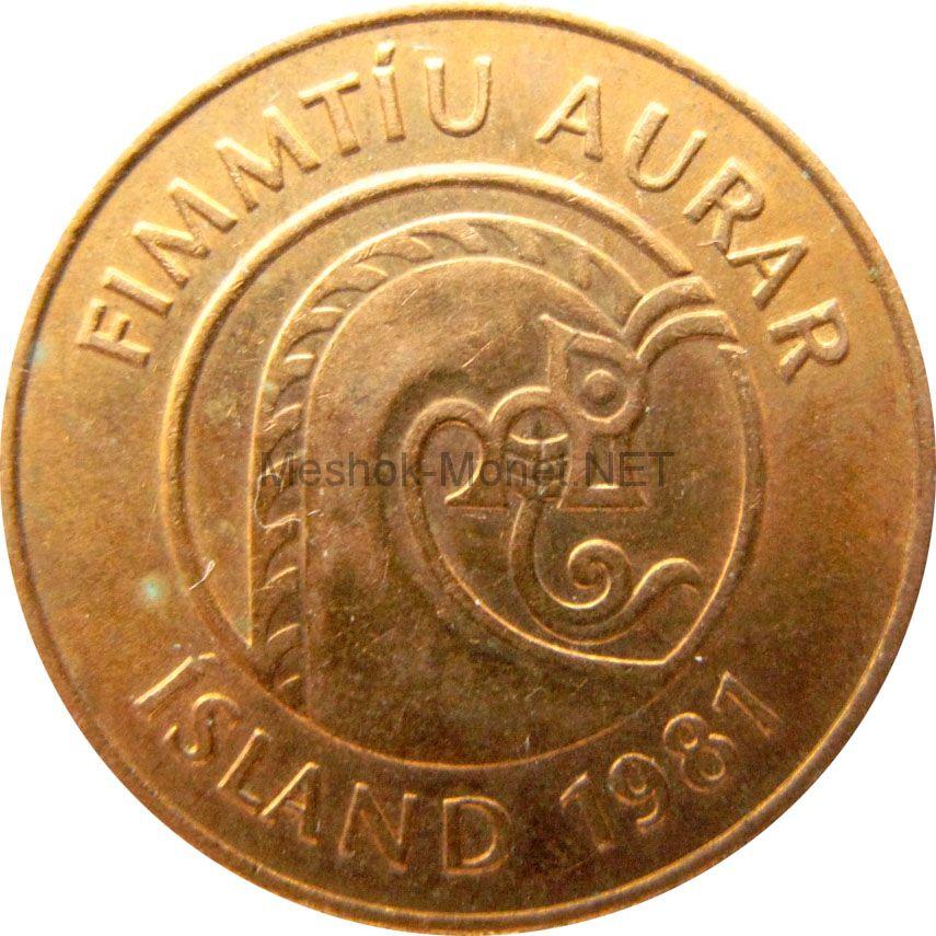 Исландия 50 аурар 1981 г.