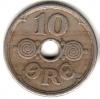 Дания 10 эре 1924 HCN-GJ