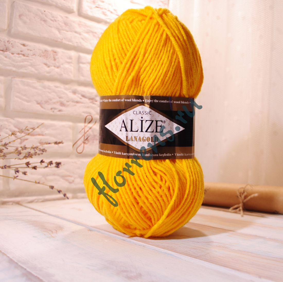 Пряжа Alize Lanagold / 216 желтый