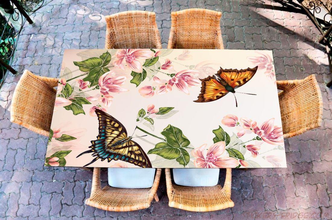Наклейка на стол - Floral-2
