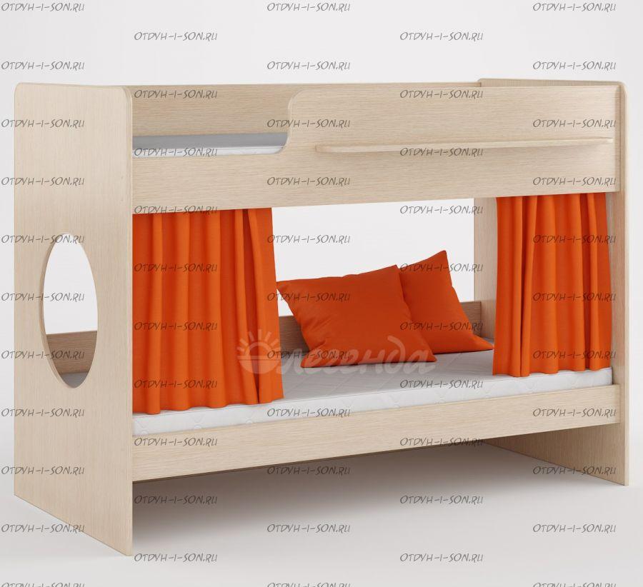 Кровать двухъярусная Легенда-25 (80х180+80х180)