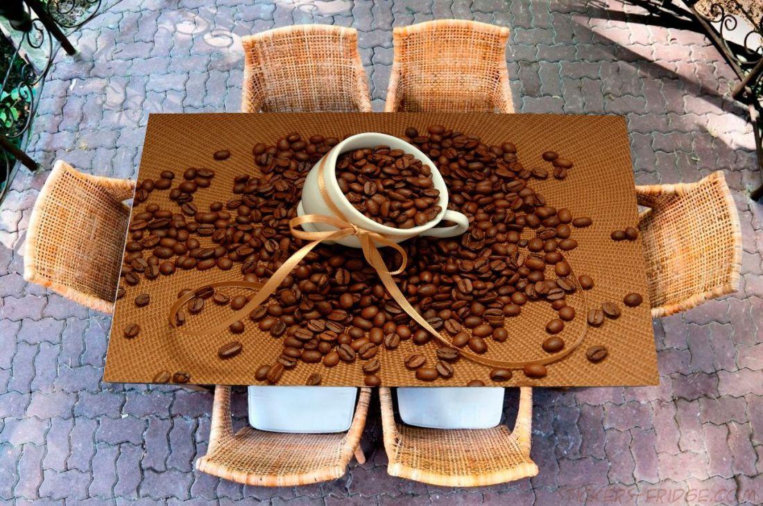 Наклейка на стол - Кофе 2 Зерна