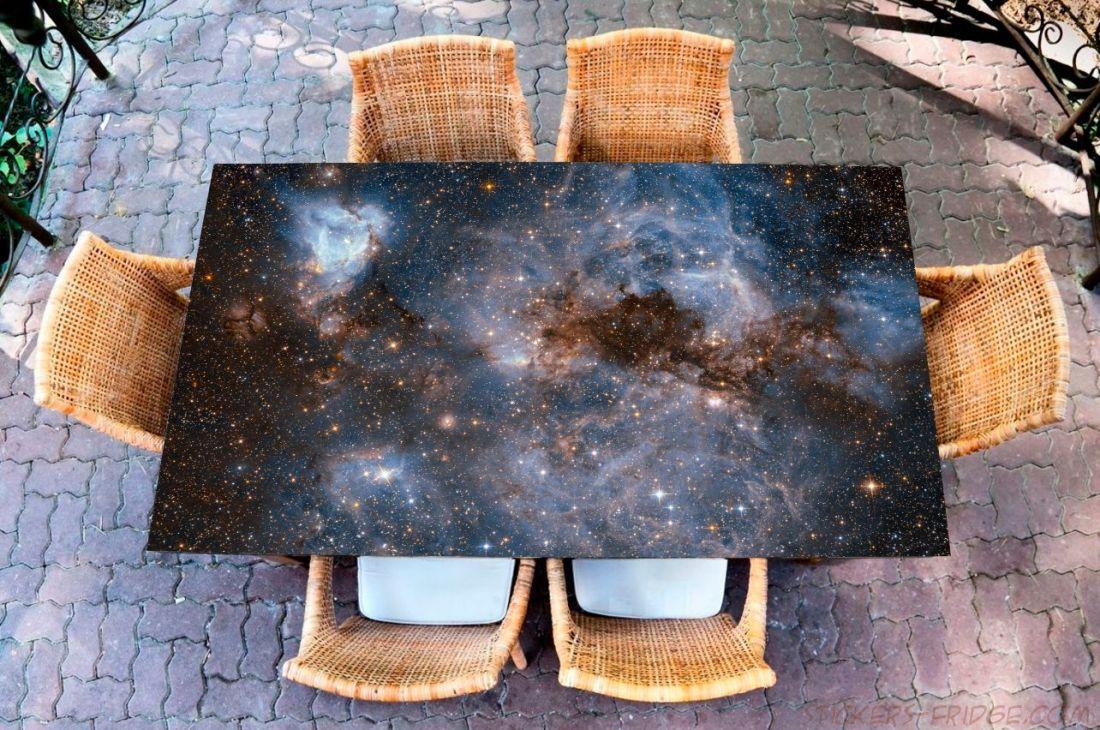 Наклейка на стол - Глубокий космос